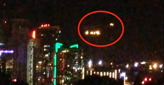 Luzes misteriosas filmadas sobre cidade nos EUA se espalham na internet