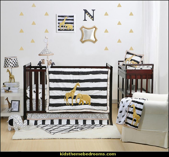 The Peanut Shell Safari 4 Piece Crib Bedding Se