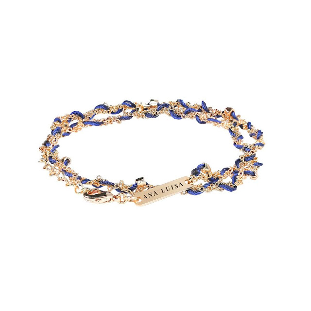 Ana Luisa Jewelry - Limited Edition Tessa Friendship Bracelet - Navy Blue | Taste As You Go