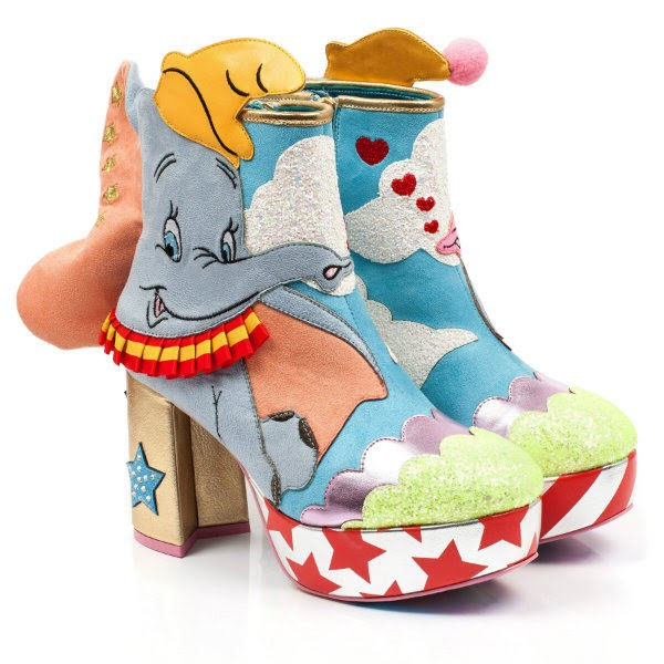 Disney Dumbo boots with striped and star platform
