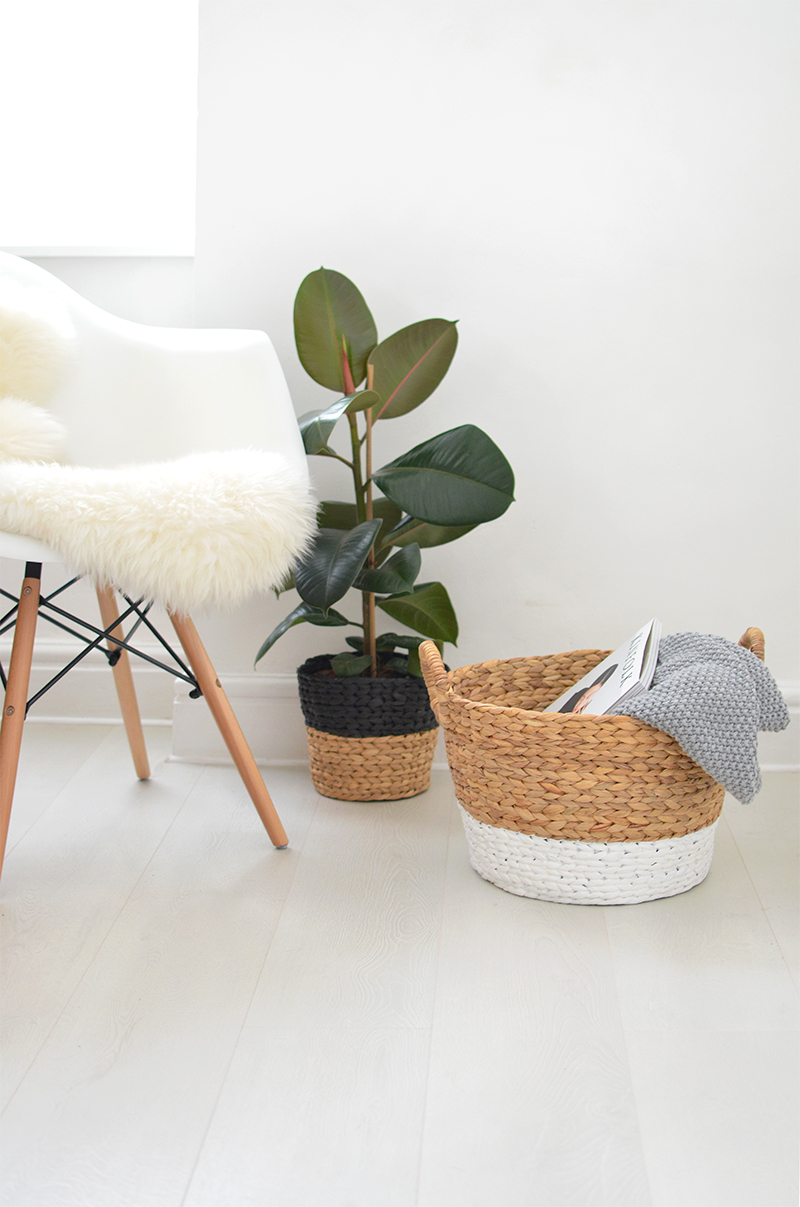 DIY painted basket project