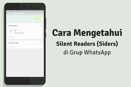 Cara Gampang Melihat Silent Reader Di Grup Whatsapp (Aplikasi & Web)