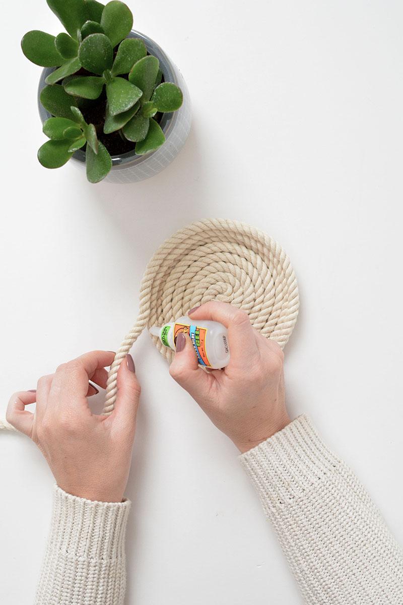 DIY rope trinket bowls
