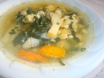 Kora tavaszi zöldségleves sajtgaluskával