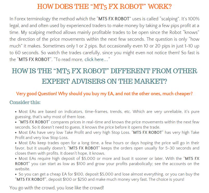 Mt5 forex robot