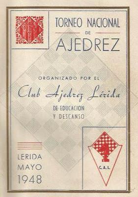 I Torneo Nacional de Ajedrez de Lérida 1948, programa