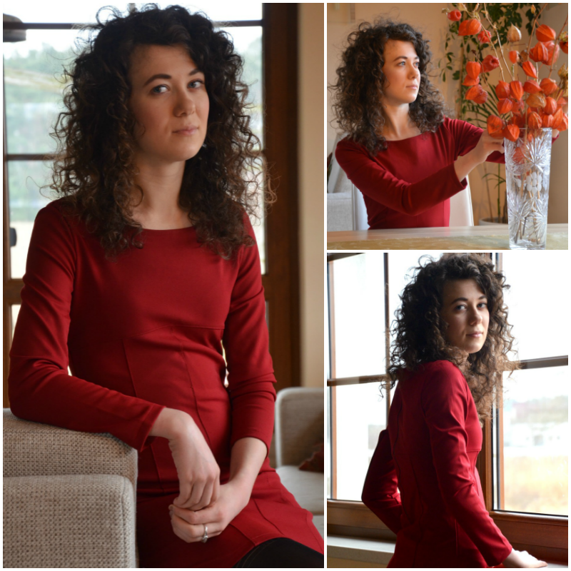 czerwona sukienka, jak się ubrać