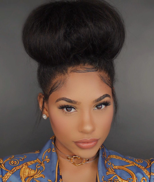 7 Easy Jumbo Bun Styles For Natural Hair Curlynikki Natural Hair Care