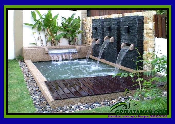 TUKANG WATER WALL MINIMALIS KOLAM KOI 082234772775