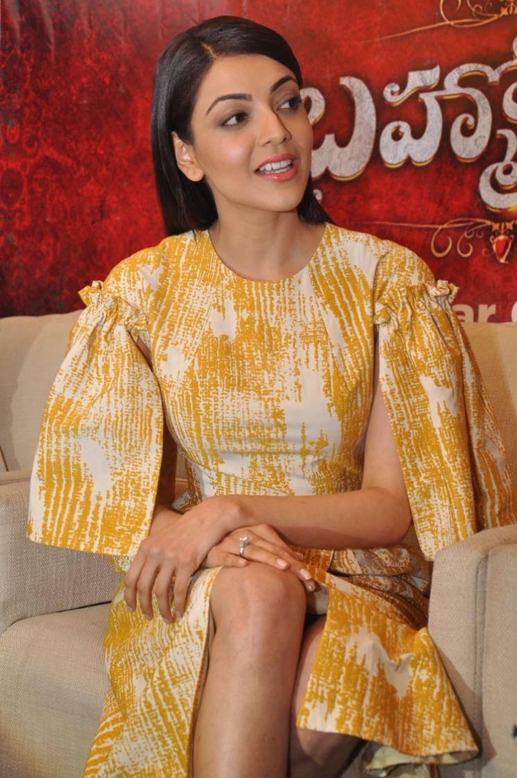 Kajal Aggarwal Brahmotsavam Photos In Yellow Dress