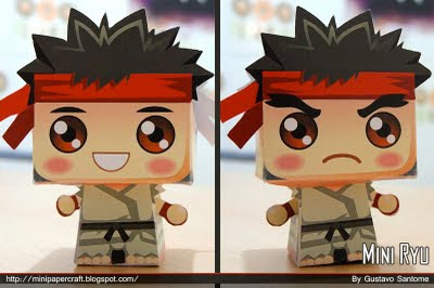 โมเดลกระดาษ street fighter ryu papercraft model