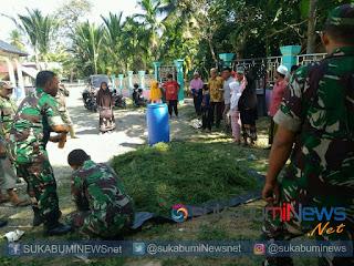 Koramil 04/Pidie Kodim 0102/Pidie tengah menyosialisasikan Pembuatan Roter kepada masyarakat di Gampong Batee Kecamatan Pidie. Jum'at (28/12/2018).