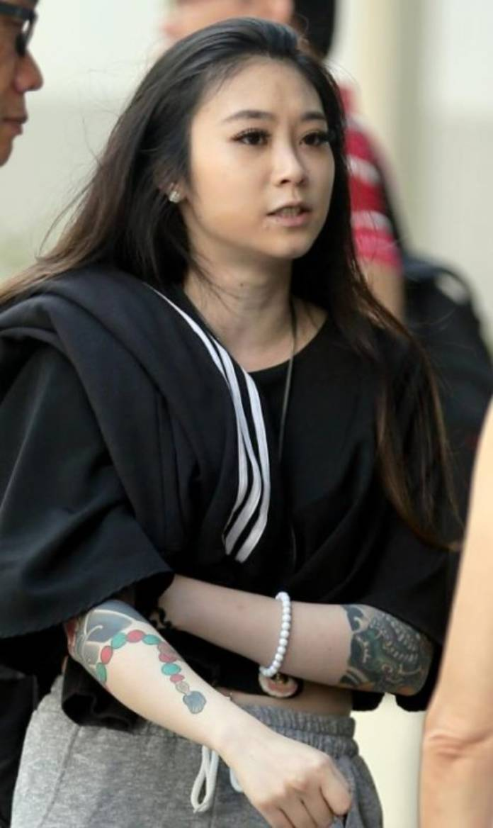 Grace Quek Xin Hui, 23, was convicted of rioting, criminal intimidation and voluntarily causing hurt.
