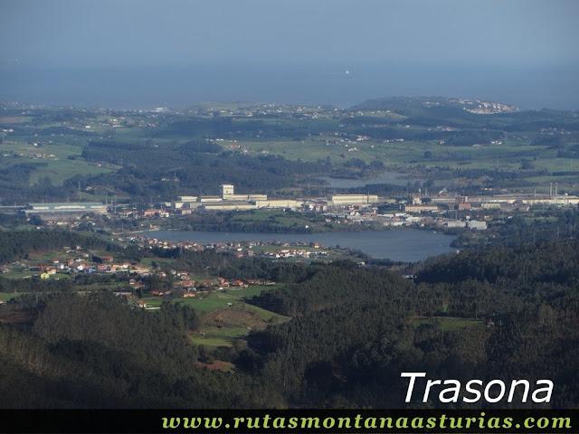 Vista de Trasona desde el Gorfolí