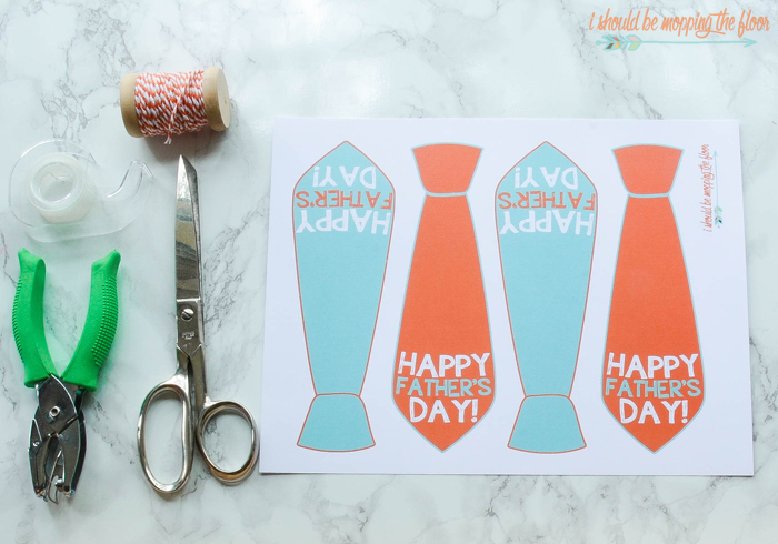 photograph about Happy Father's Day Banner Printable known as Free of charge Printable Fathers Working day Reward Tags i ought to be mopping