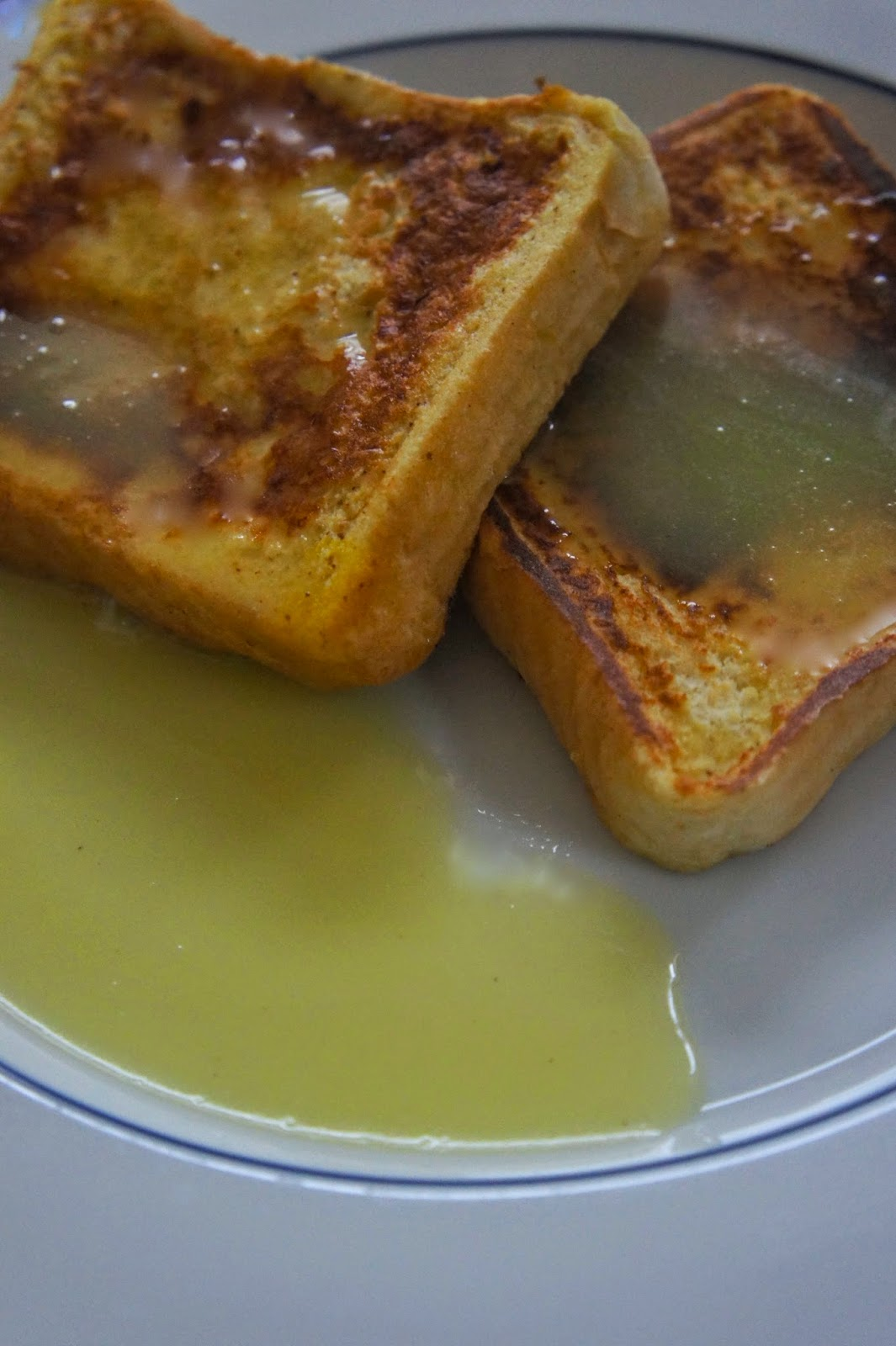 Egg Nog French Toast with Egg Nog Syrup:Savory Sweet and Satisfying
