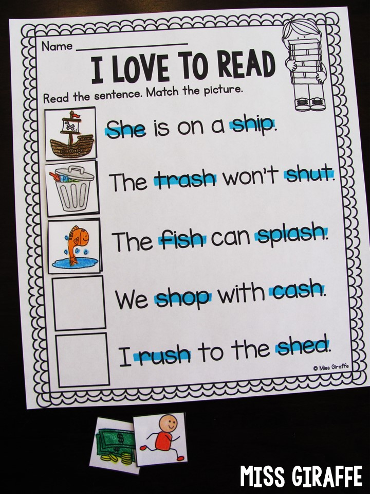 Digraphs worksheets for first grade