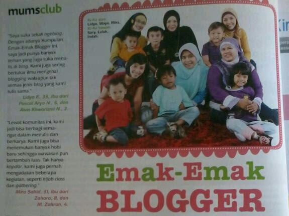 Emak2 Blogger Di Majalah Mother & Baby
