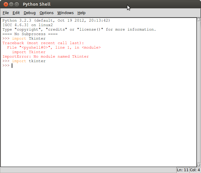 Mobile-Web-App: Check if Tkinter installed in Python