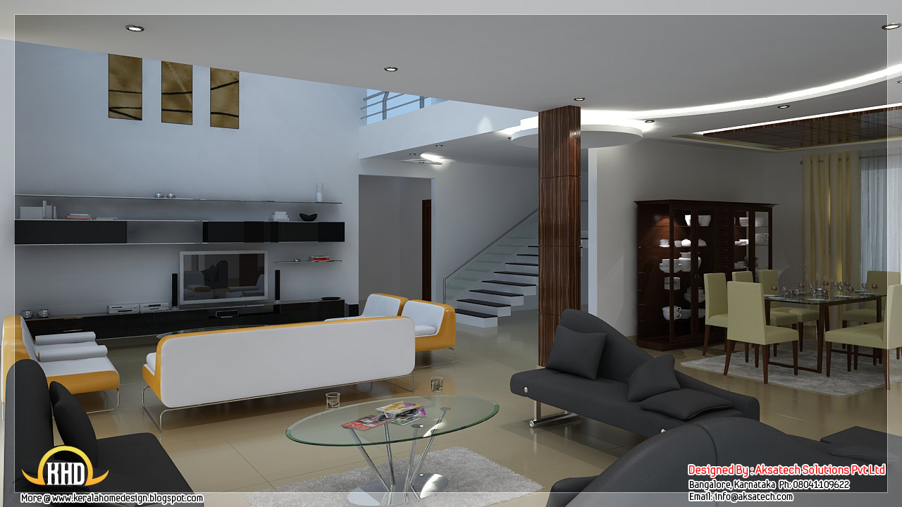 Beautiful contemporary home designs kerala home design for Interior design for duplex living room