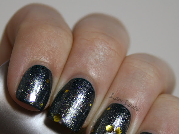 NZ Indie Polish Month: Handmade By Kyleigh Birthday Bling Swatches & Review (+ YSL Wintergreen!)