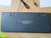 Rückseite: LOGITECH K280e corded Keyboard USB black for Business, QWERTZ, deutsches Layout