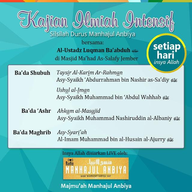 Informasi Jadwal Kajian Sunnah di Jember