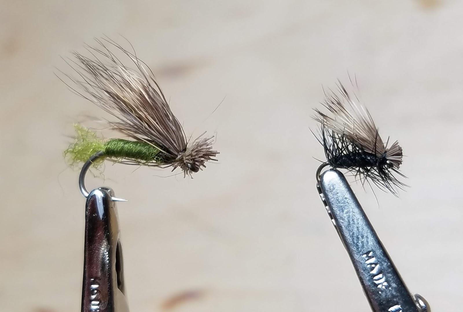silver rib Fly Fishing Flies 12 Zebra Midges size 20 red head black body