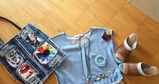wie kombiniert man Jeanskleider