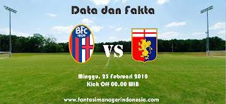 Data dan Fakta Liga Fantasia Serie A Gio 26 Bologna vs Genoa Fantasi Manager Indonesia
