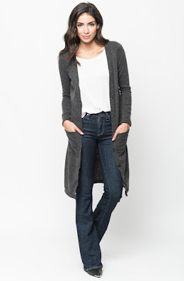 Buy now black Brushed Maxi Button Cardigan Online $10 -@caralase.com