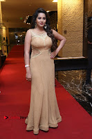 Actress Himaja Stills in Golden Spicy Long Dress at SIIMA Short Film Awards 2017 .COM 0207.JPG