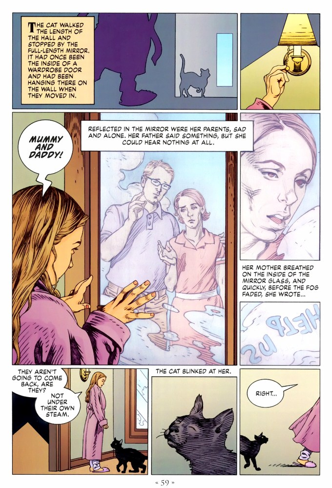Read page 59, from Nail Gaiman and P. Craig Russell's Coraline graphic novel