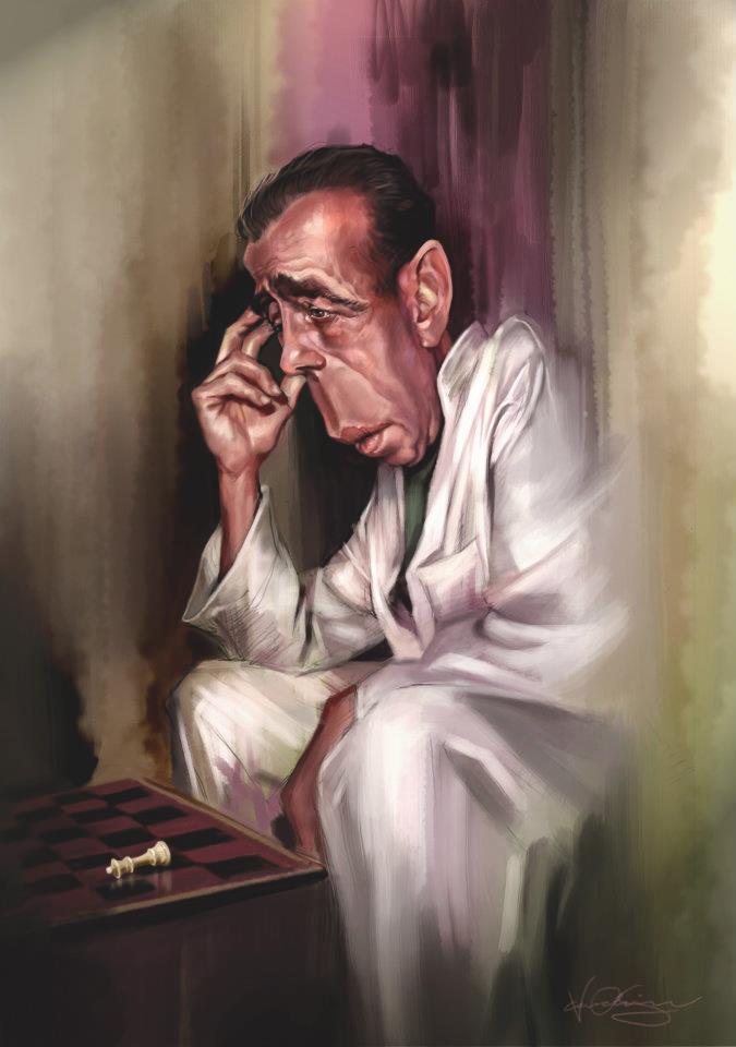 Humphrey Bogart por Caroline Vos