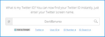 Masukkan username Twitter