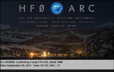 HF0ARC QSL Antartica