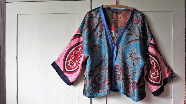 vintage scarf kimono jacket by karen vallerius