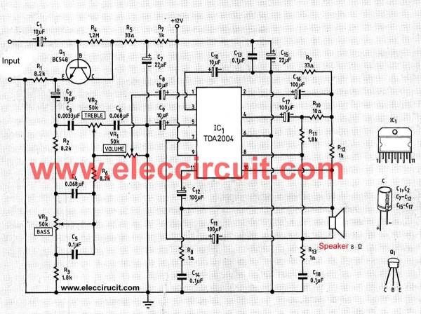 eletr u00f4nica epaulino   amplificador 20w com tda2004  tda2005