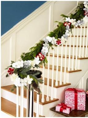 còmo decorar las escaleras con guirnaldas de papel