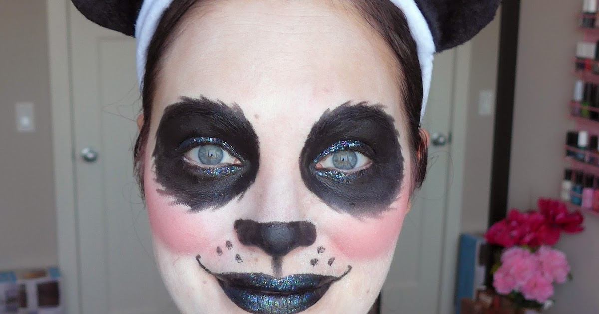Halloween Look Pretty Glam Glitter Panda Makeup See The World In Pink