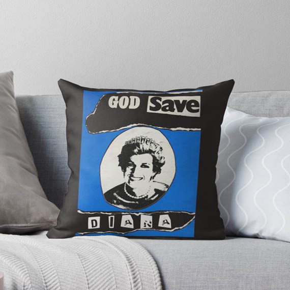 pillow, LadiDi punk-rock style desig at RedBubble