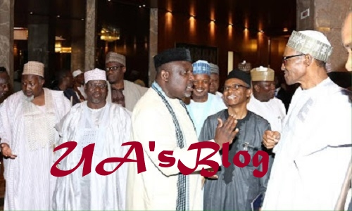 BREAKING: APC govs succumb to Buhari, vow to abide by Constitution
