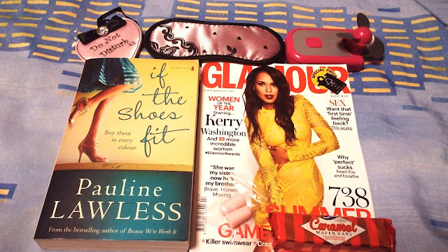 magazine, book fan and sleep essentials in hospital