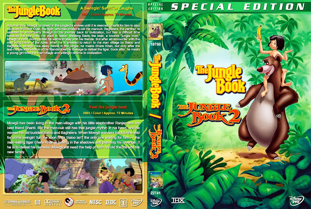 The Jungle Book / The Jungle Book 2 DVD Cover