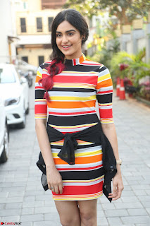 Adha Sharma in a Cute Colorful Jumpsuit Styled By Manasi Aggarwal Promoting movie Commando 2 (6).JPG