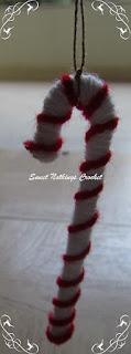 crochet mini tree decorations