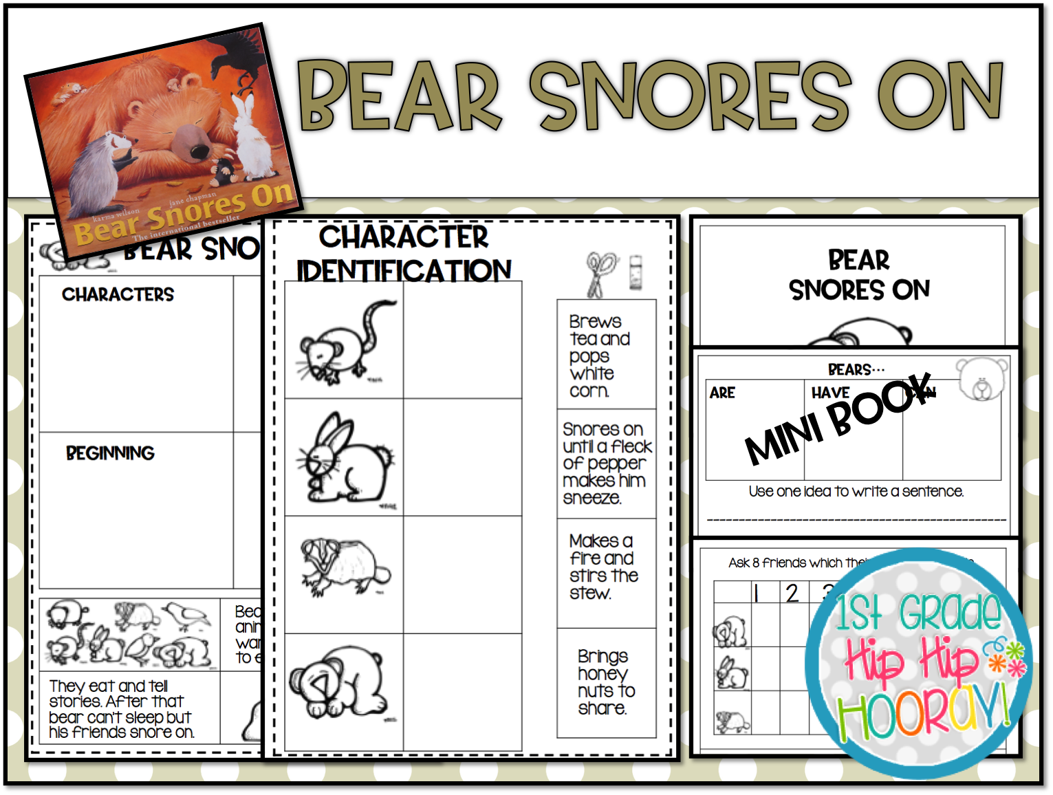 1st Grade Hip Hip Hooray Bear Stories For Fall And Into