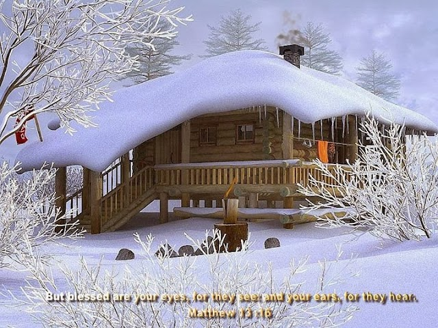 Christmas Snow Bible Verse Desktop Wallpaper