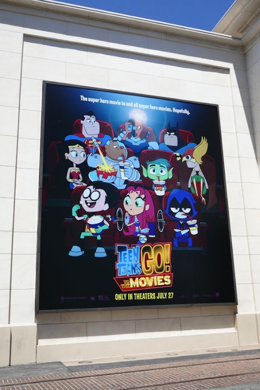 Teen Titans Go to the Movies billboard