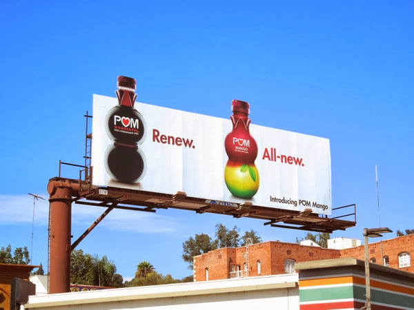 Pom Mango Renew All new billboard